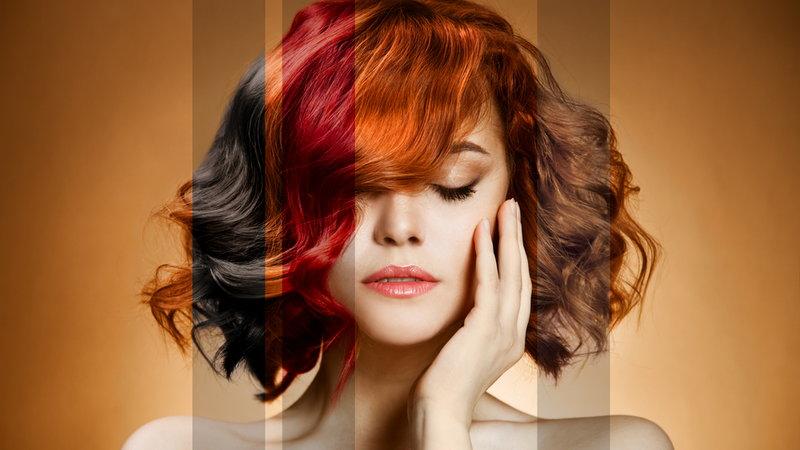 koloryzacja siwych włosów