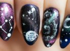 kosmiczne paznokcie hybrydowe krok po kroku